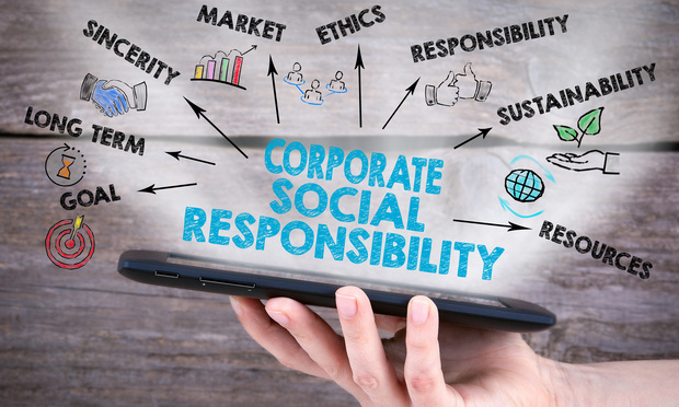 Stock illustration: corporate social responsibility