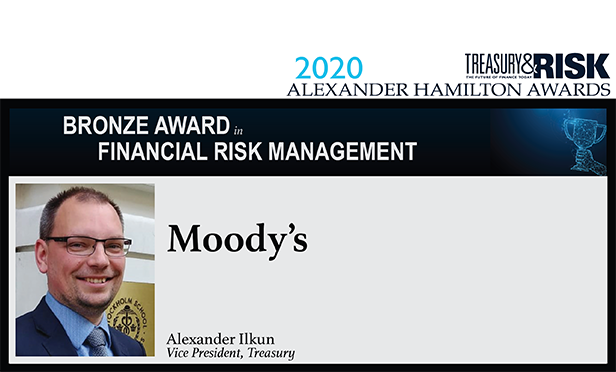 Bronze award in Financial Risk Management: Moody's