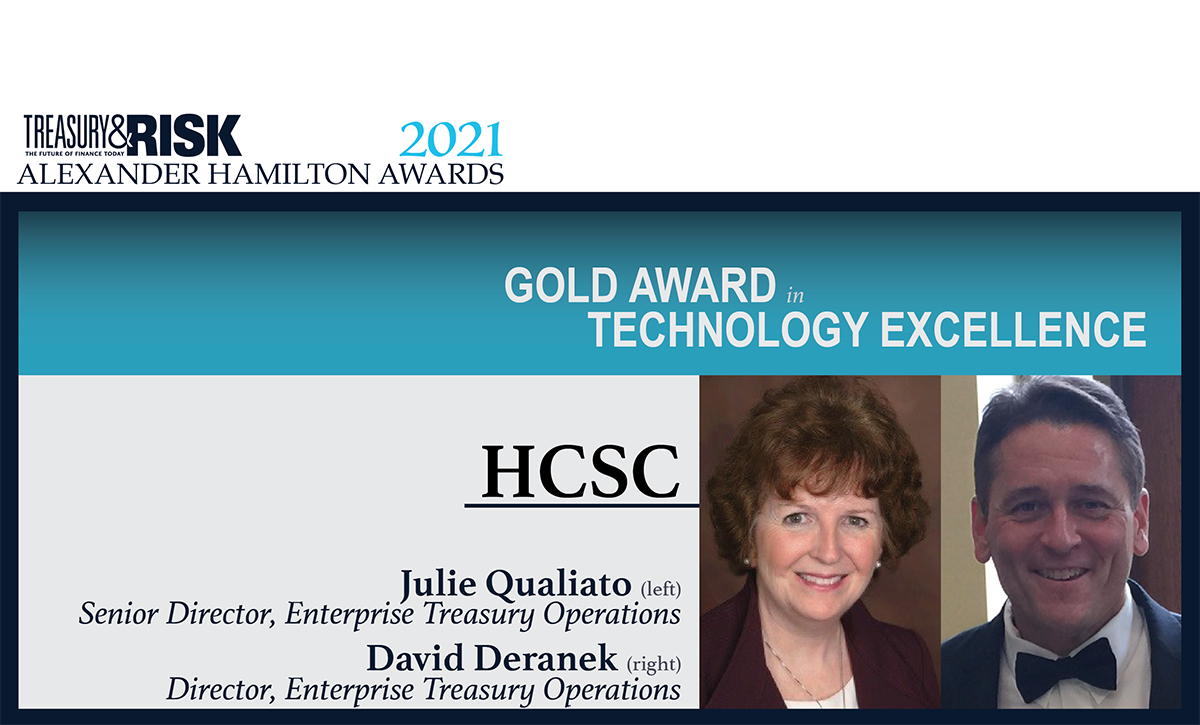 HCSC wins Gold Alexander Hamilton Award in Technology Excellence!