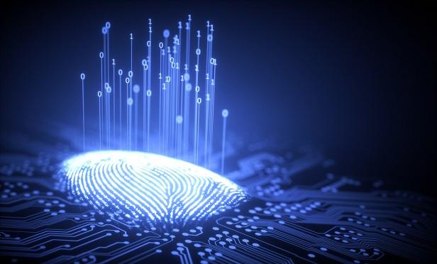Biometric fingerprint scan