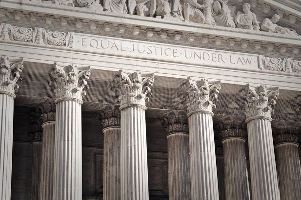 closeup of Supreme Court building