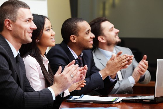 Stock photo: applause during business meeting