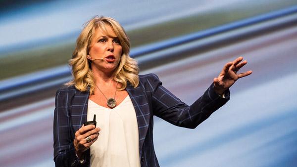 Liz Ann Sonders speaking at a Schwab Impact conference.
