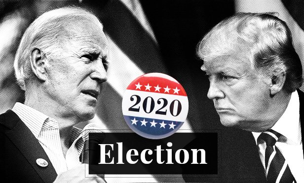 stock images of 2020 presidential candidates Joe Biden and Donald Trump