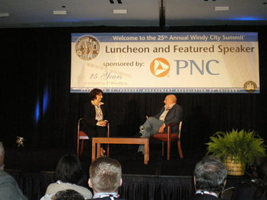 Sam Zell and Donna Miskin at Windy City Summit