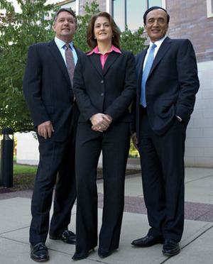John Tus, treasurer and VP; Kathleen Winters, controller and VP; and Harsh Bansal, VP, investments.