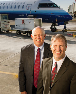 Columbus Regional Airport Authority CFO John Byrum and Randy Bush, director of finance and administration