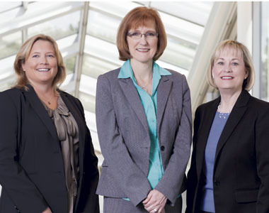 Diana Noteboom, IT business analyst, finance, ConocoPhillips; Tammy Burks, director of treasury services, Phillips 66; and Judy Bouchard, banking director, ConocoPhillips