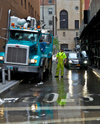 Hurricane Sandy recovery efforts in Lower Manhattan