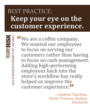Best practice: Keep your eye on the customer experience.