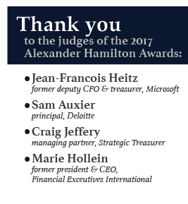 Thank you to the judges of the 2017 Alexander Hamilton Awards!