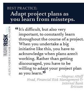 Best practice: Adapt project plans as  you learn from missteps.