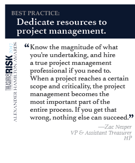 Best practice: Dedicate resources to project management.