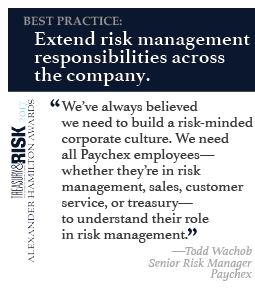 Best practice: Extend risk management responsibilities across the company.