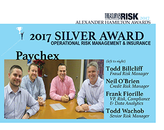 2017 Alexander Hamilton Silver Award in Operational Risk Management & Insurance: Paychex
